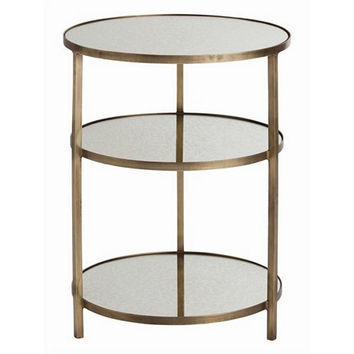 Arteriors Home Percy Antique Brass/Mirror End Table