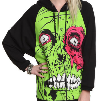 Iron Fist Zombie Chomper Girls Zip Hoodie | Hot Topic