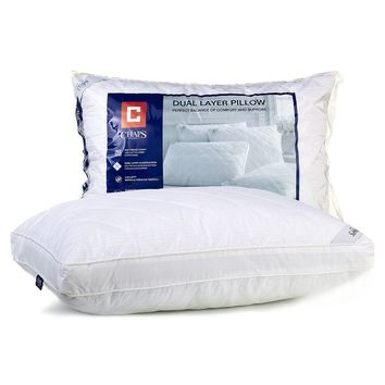 Chaps Home Dual-Layer Pillow (White)