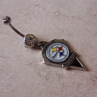 NFL Belly Rings Pittsburgh Steelers Body Jewellery