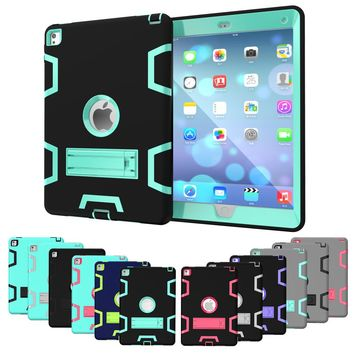 Tablet Case for Apple iPad Pro 9.7-inch Extreme Heavy Duty Dustproof Shockproof Rubber Cover with Stand
