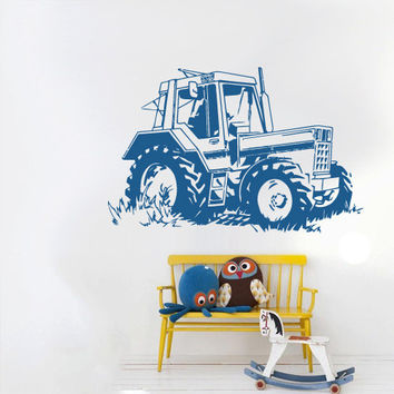Wall Decal Vinyl Sticker Decals Bedroom Nursery Boys Art Decor Tractor Loader bulldozer Kids (z2649)