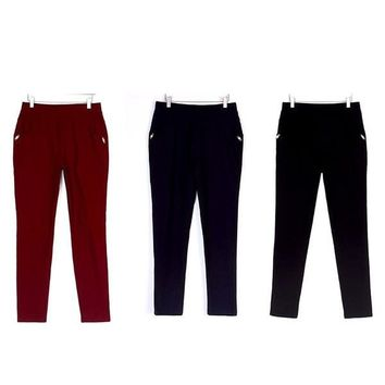 Women Casual Capris Pants Plus Sizes