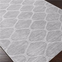 Surya Mystique Ava Light Gray Hand Crafted Wool Rug