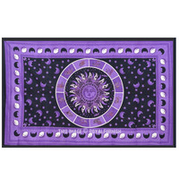 Purple Celestial Psychedelic Zodiac Sun Tapestry Wall Hanging on RoyalFurnish.com