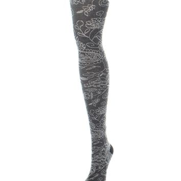 Paisley Pop Sweater Tights