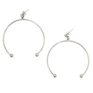 SOOP SOOP - Justine Clenquet Anna XL Earrings, Palladium