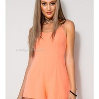 Molly Playsuit - Neon Coral - SALE