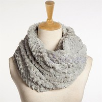 Infinity Scarf, Super Soft and Yummy Faux Fur and Cashmere Blend, Light Wrap,  Very Warm, Multiple Color Options
