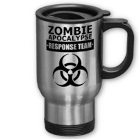 Zombie Apocalypse Response Team Travel Mugs from Zazzle.com