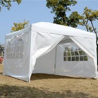 10' x 10' Pop-Up Tent with Walls – White