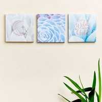 Moon Cactus Canvas Art Set of 3