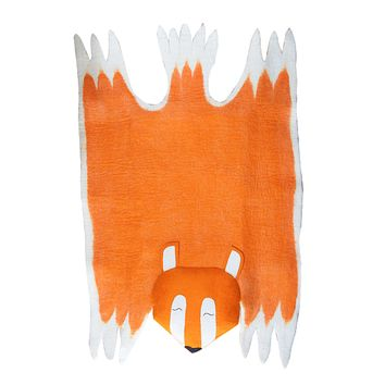 Large Felt Fox Kid's Rug