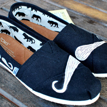 Many Mustache Black Classic TOMS shoes
