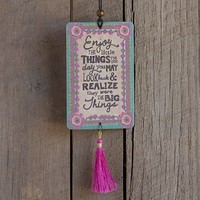 Car  Air  Fresheners:  Enjoy  The  Little  Things  Tassel  Air  Freshener  From  Natural  Life