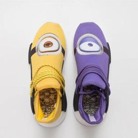Adidas Human Race NMD Boost Trending Men Casual Yellow Purple Sport Running Shoe Sneakers I