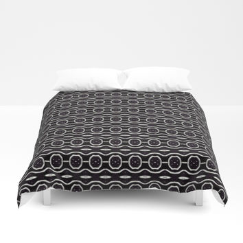 Funky Black And White Pattern Throw Pillow by kasseggs