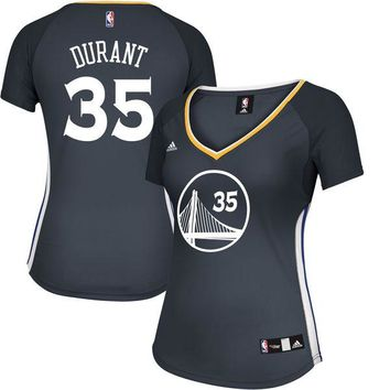 Women's Golden State Warriors Kevin Durant adidas Charcoal Alternate Replica Jersey