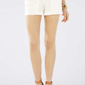 Brown/White BCBG Addison Paper Bag Shorts