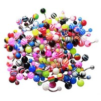 BodyJ4You® Belly Button Rings Assorted Lot of 25 Pieces Stainless Steel Piercing Jewelry - Walmart.com