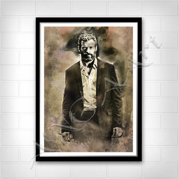 Logan print Logan poster Hugh Jackman Instant Download Digital Print Wall art Watercolor Hugh Jackman poster X- men poster Wolverine