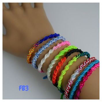 100 Friendship Bracelets Assorted Model FB3 Peruvian Friendship Bracelets