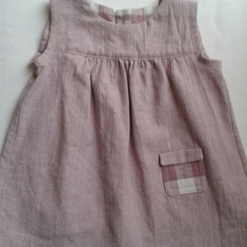 Baby's Cotton/Linen Sleeveless Dress
