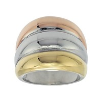 Stainless Steel Tri-Tone Ring (Tricolor)