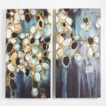 Black and Gold Stone by Liz Jardine Set of 2