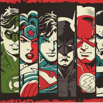 Justice League Retro DC Comics Poster 22x34