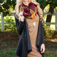 Shop Priceless Midori Cardigan - Charcoal
