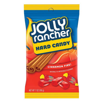 JOLLY RANCHER Hard Candy (Cinnamon Fire 7-Ounce Bags Pack of 12) Cinnamon Fire