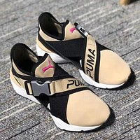 Puma Muse Cut-Out Trending Women Stylish High Quality Running Sneakers Sport Shoes Apricot