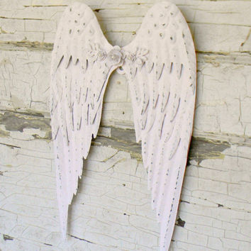 Angel Wings, Angel Wings Wall Decor, Angel Wing Decor, Angel Decor, Metal Angel Wings, Nursery Wall Decor, Nursery Decor, Angel Wall Decor