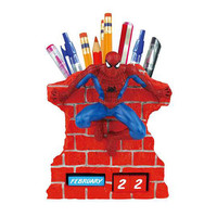 Spider-Man Wall Time Perpetual Calendar and Pencil Holder - Westland Giftware - Spider-Man - Office at Entertainment Earth