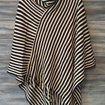 Poncho, Monogram poncho, stripe poncho, monogram sweater, monogram * free shipping *