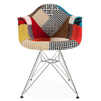 Retro Modernist Style Upholstered Armchair
