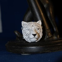 White Tiger Adjustable Ring | Luulla
