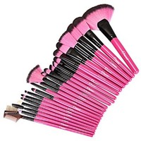 Ovonni® Hot Pink 22pcs Professional Makeup Cosmetic Brush Set with Pouch