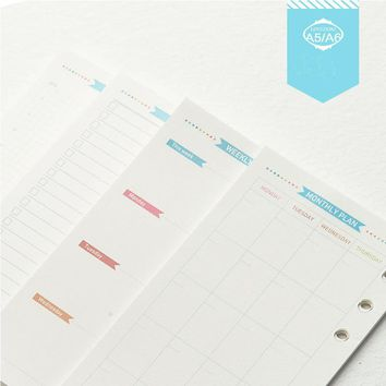 Dokibook Notebook Papers A5 A6 Pages Planner Filler Paper Inside Page Weekly Monthly Plan Matching Filofax Kikkik