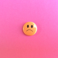 "Sad Face 1"" Button"