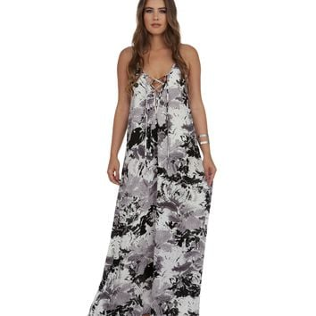 Ivory Abstract Floral Maxi