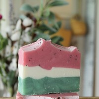 Watermelon Poppy Seed  - Handcrafted Soap Bar