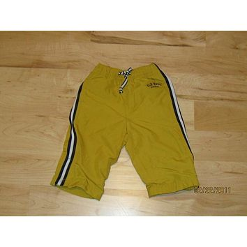 Old Navy Track Pants Boys 6-12m Infant Mustard With Black/White Stripes -- Used