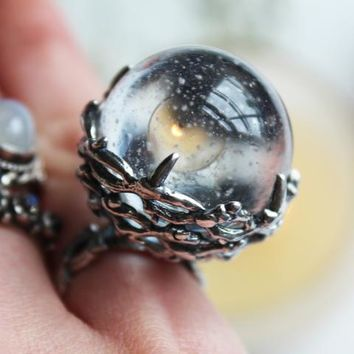 Shop Dixi Boho Ring | Our Time Will Come Crystal Ball Thorn Boho Ring