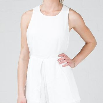 ANGL | Double Take Lace Back Romper