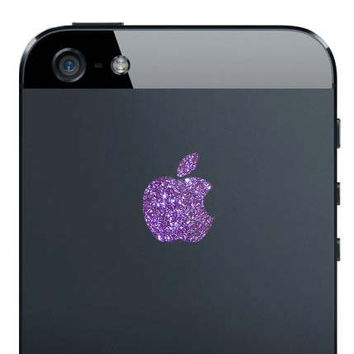 iPhone 5 Sparkling Amethyst Apple Decal by kellokult on Etsy