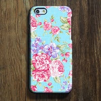 Elegant Blue Pink Floral iPhone 6s Case iPhone 6s Plus Case iPhone 6 Cover iPhone 5S 5 iPhone 5C iPhone 4s 4 Samsung Galaxy S6 Edge Galaxy s6 s5 s4 Galaxy Note 5Note 4 Case 142