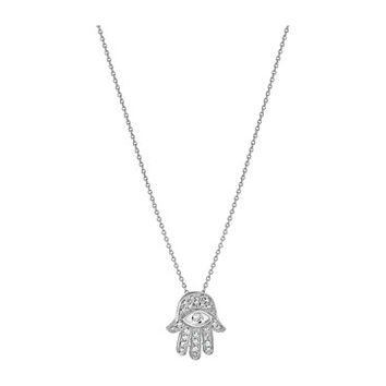 Roberto Coin Tiny Treasures 18K Diamond Hamsa Necklace