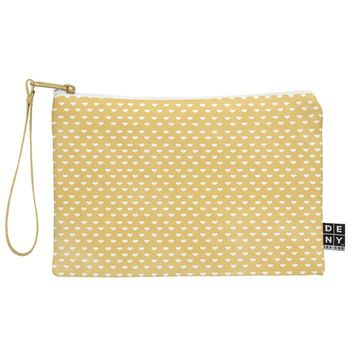 Allyson Johnson Dainty Yellow Hearts Pouch